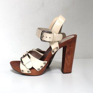 Dolce & Gabbana Patent Leather Wood High Heels